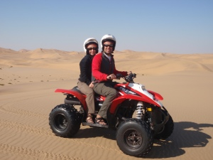 An ATV ride in the Namib Desert