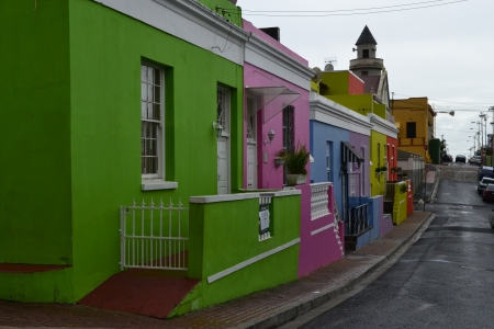 Colorful homes in downtown Cape Town