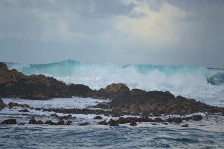Ten foot waves crashing into Seal Island