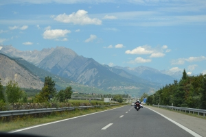 The drive from Montreaux to Zermatt.