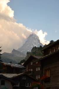 Our view of the Matterhorn from our hotel room!