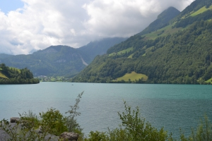 One of the many spectacular views on the way to Zurich from Lucerne, via Interlaken.