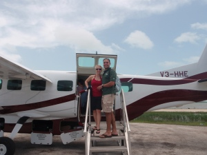 "Our ""puddle jumper"" trusted to get us to Ambergris Caye."