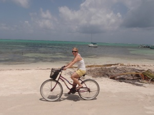 We rented bikes to traverse the island!